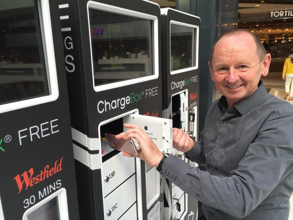 ChargeBox CEO Ian Hobson at Westfield London
