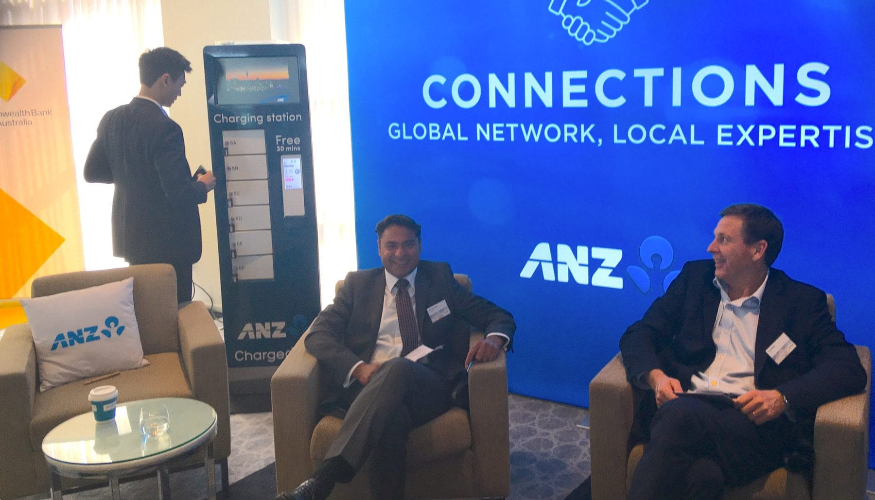 ANZ keeps summit-goers connected with secure phone charging service