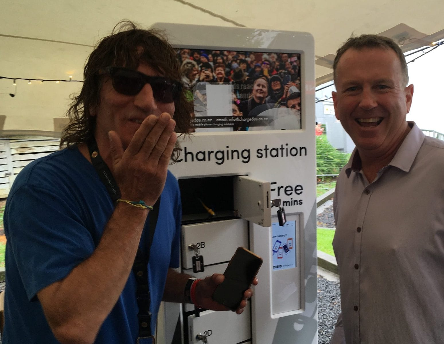 ChargedAs' charging stations help prevent early exits from events